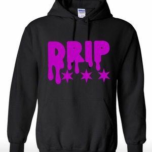 Drip Logo Font Stars Hoodie Chicago Star Lean Wet